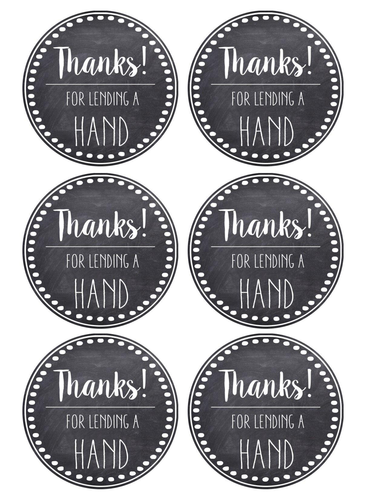 Thank You Amp Teacher Appreciation Tags Free Printable
