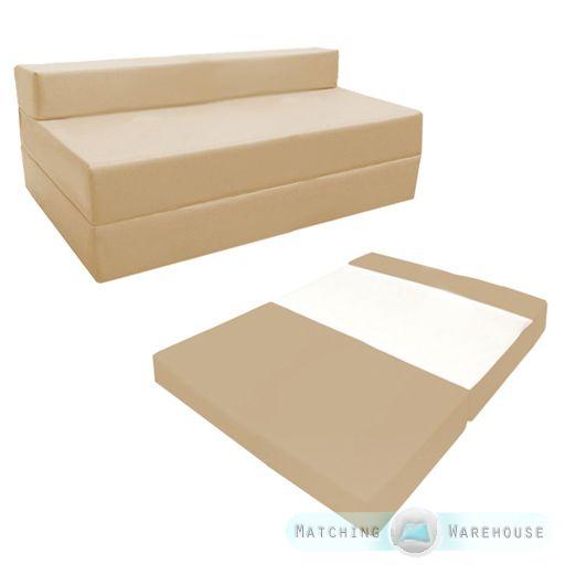 Fold Out Waterproof Double Guest Z Bed Chair Folding Mattress Sofa Futon