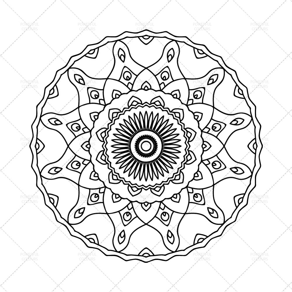 Mandala Coloring Page N 1 Instant Download Printable Pdf Mandala