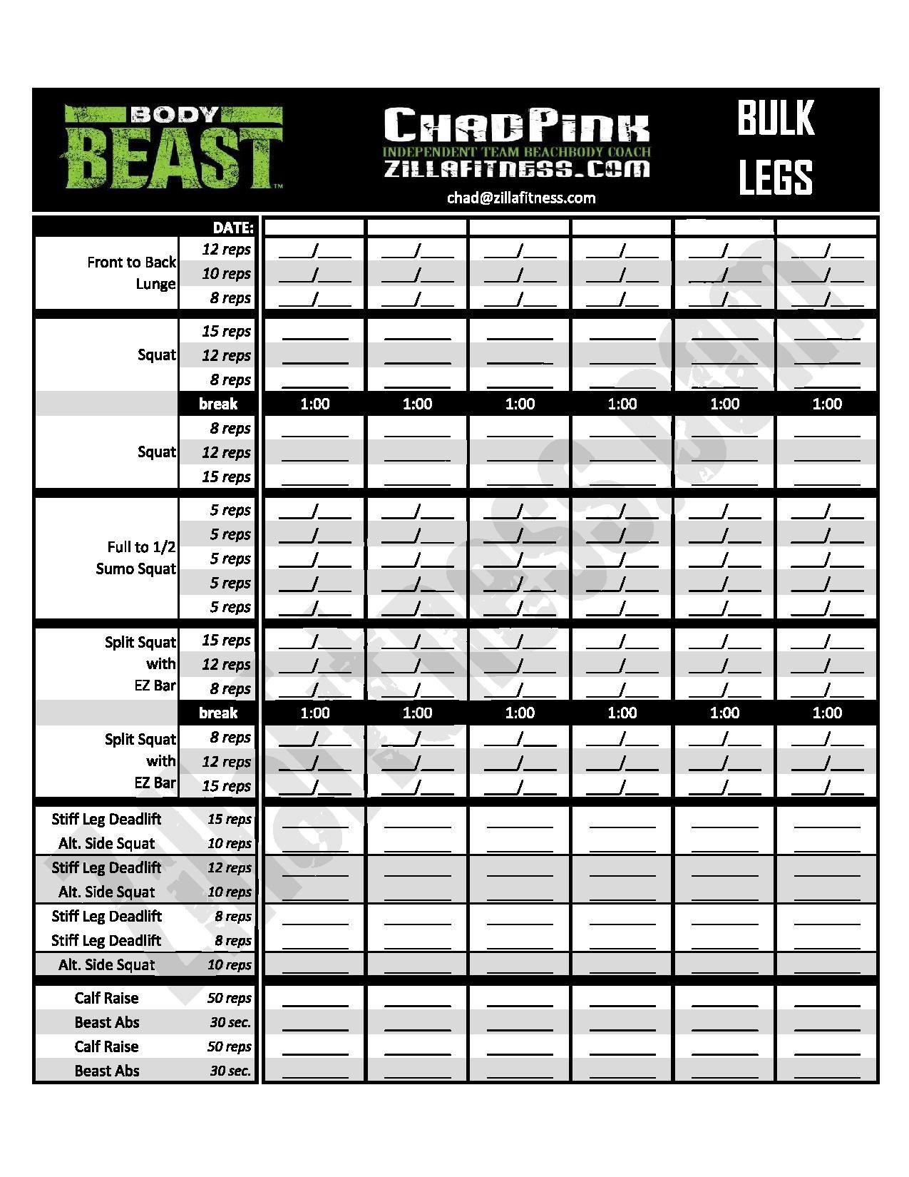 Beast Mode Worksheet
