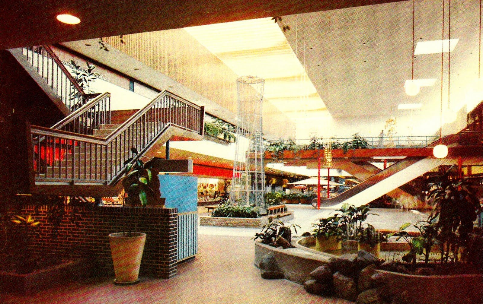 Another 1970s View Of The Garden Court At Southdale