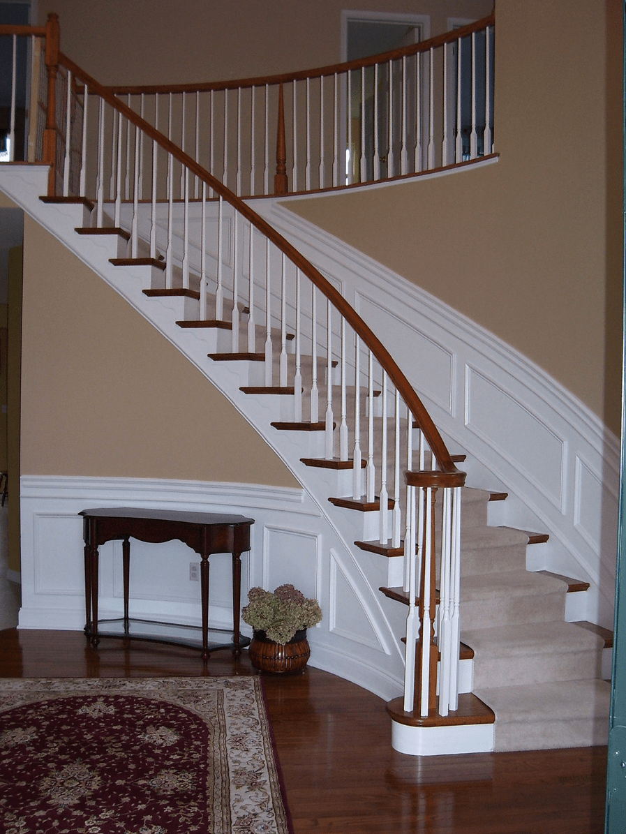 Wainscoting Along Curved Stairs Wainscotting Design Ideas Pinterest Wainscoting Stair
