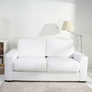 Winston White Faux Leather Sofabed
