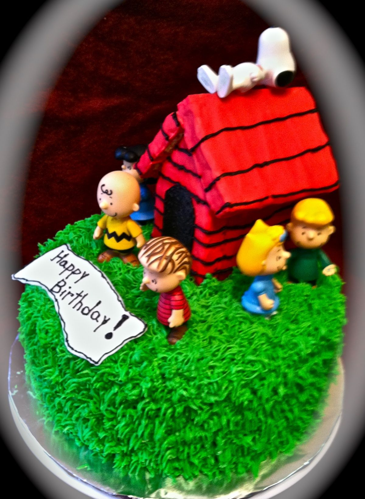 Cake Idea I Have The Grass Tip We Can Make The Dog House