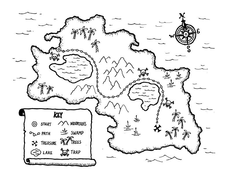 FREE TREASURE MAP PRINTABLE Great way to teach map skills