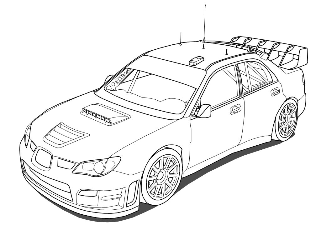 Subaru Impreza Sti Wrc Outline By Outcastoneviantart