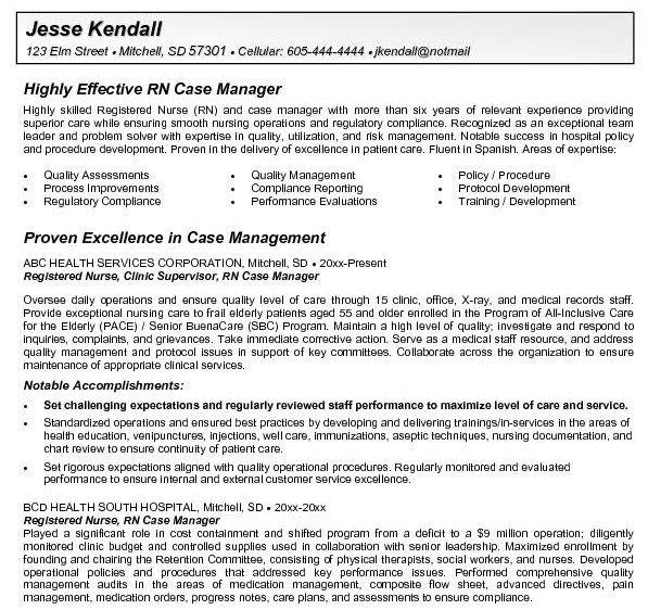 Rn Case Manager Resume Getresumetemplate Info 3464