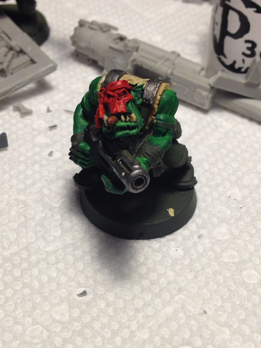 Photo of Catachan themed ork model