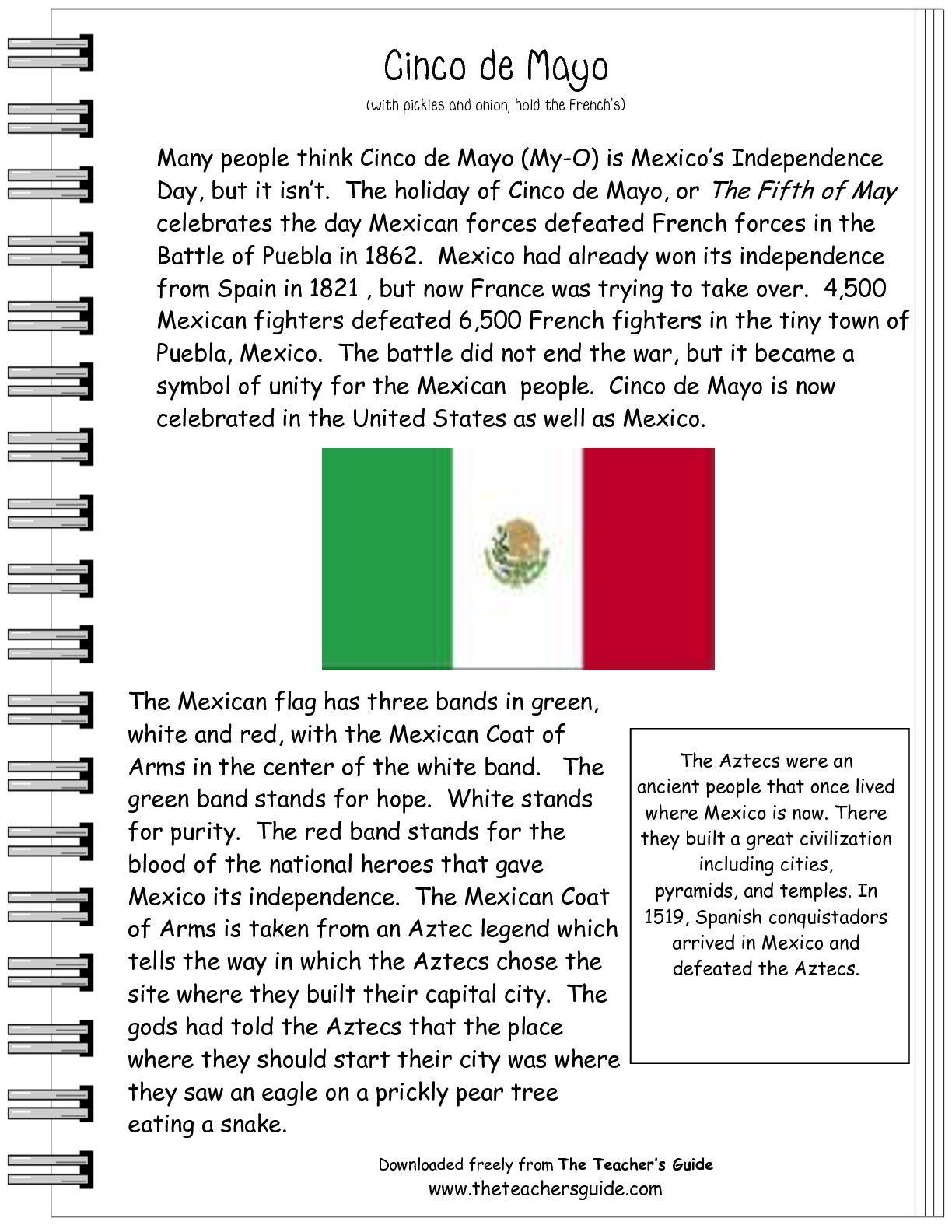 Spanish Worksheet For Third Graders