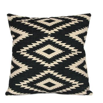 Signepling Feather Pillow Cat Geometric Pillows Black