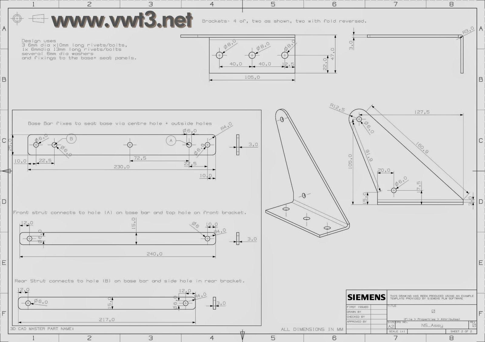 Vwt3 Mecanismo Sofa Cama Camper Planos Tecnicos