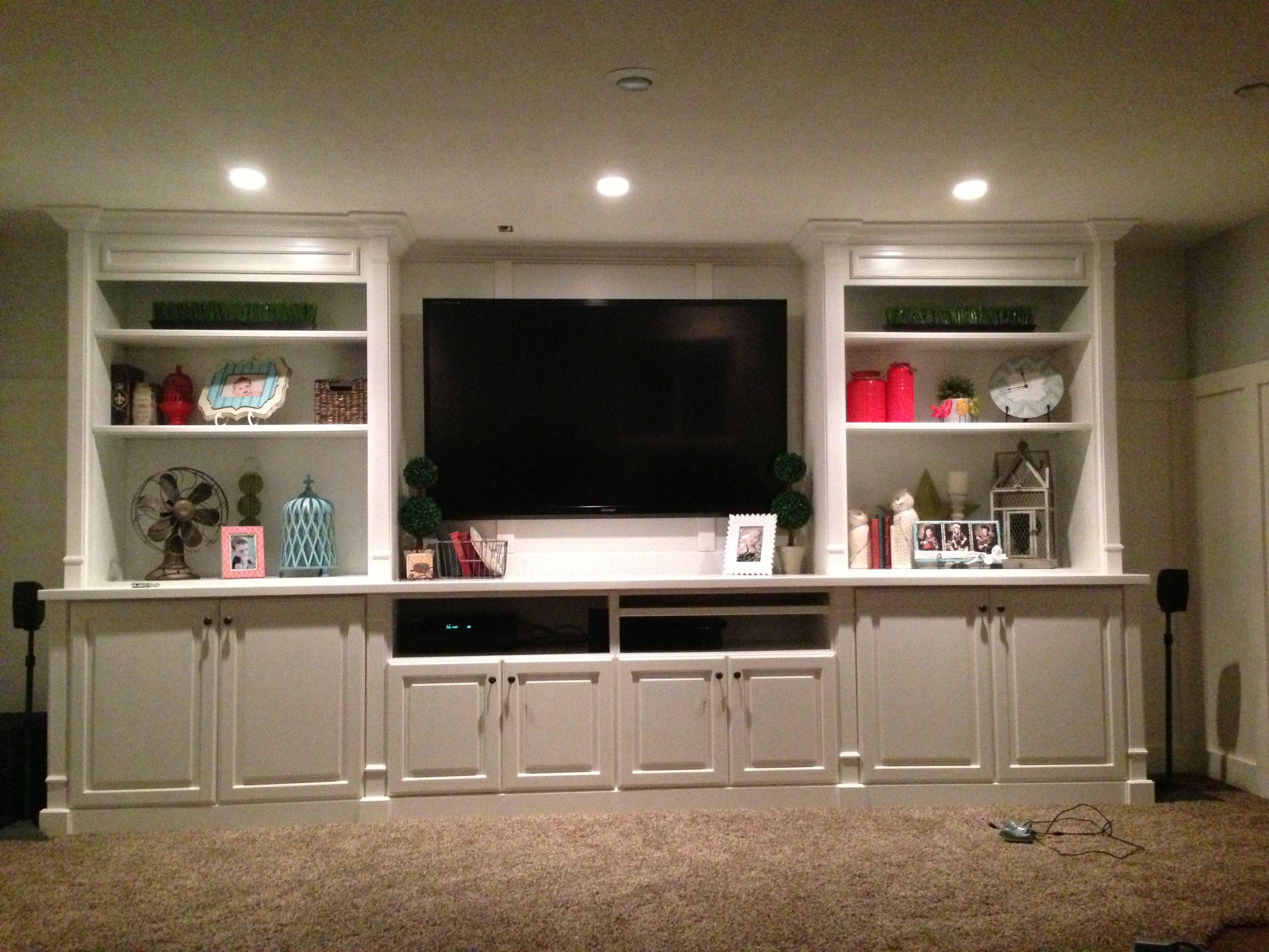 My Just Finished Basement Entertainment Center