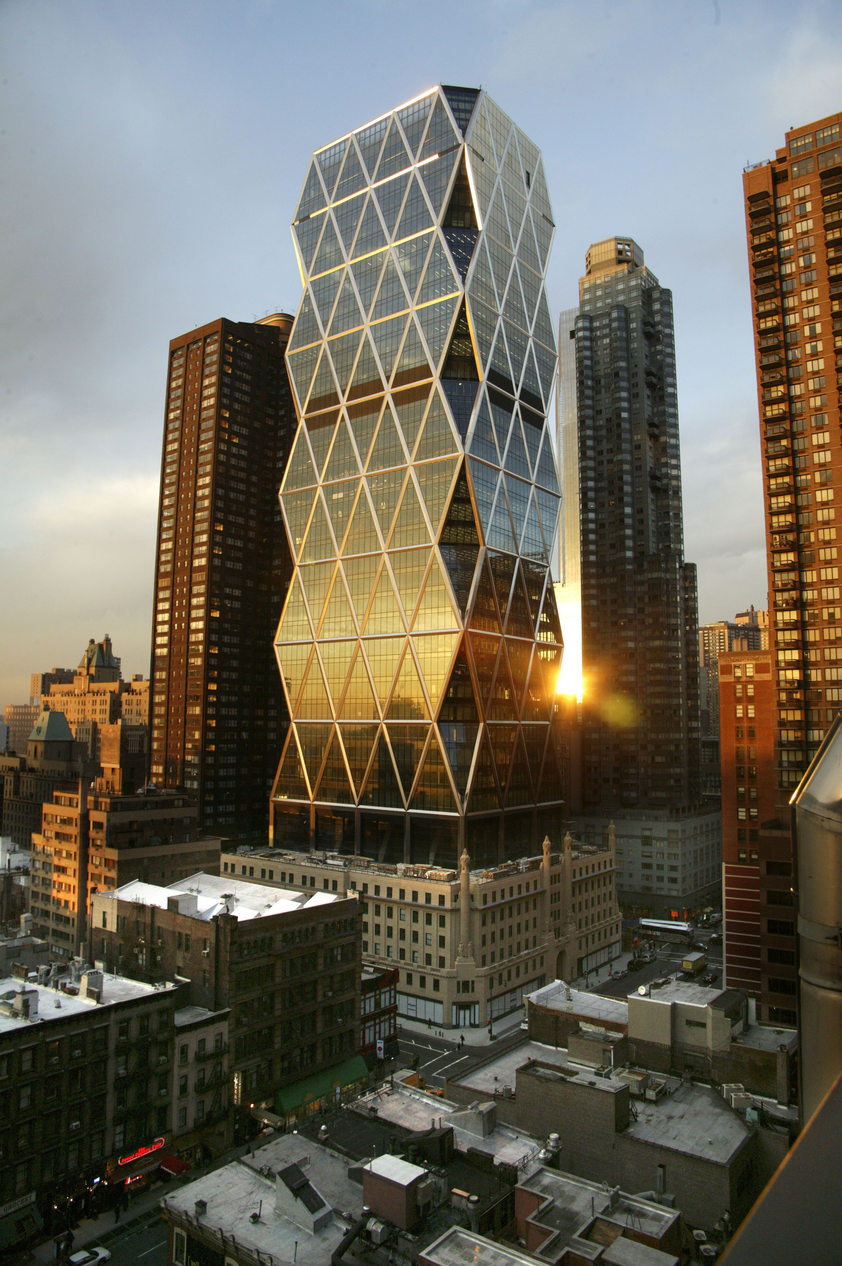 Hearst Tower, NYC The triangular framing