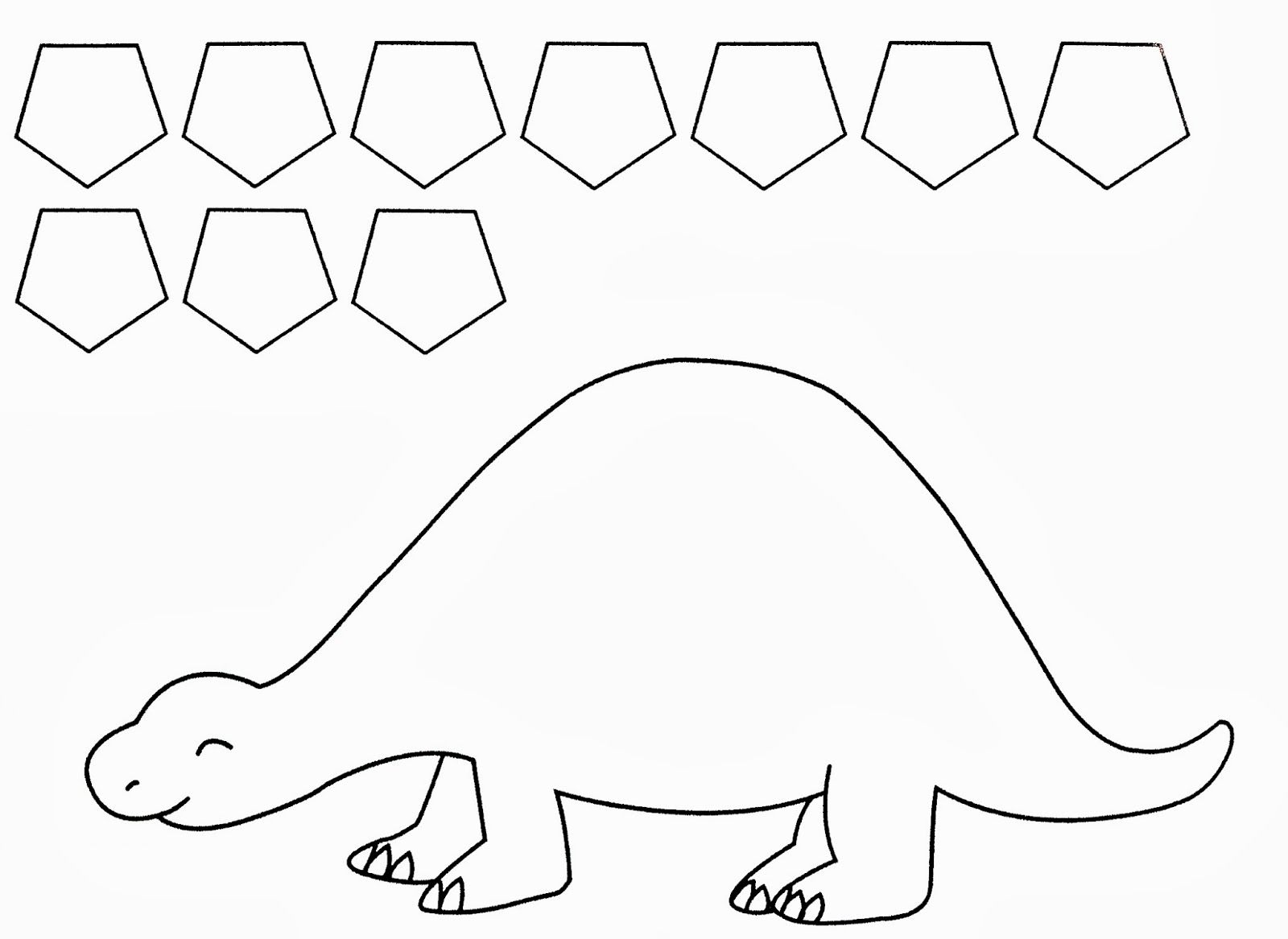 Twanneke Dinosaur Shapes Pentagon Shapes