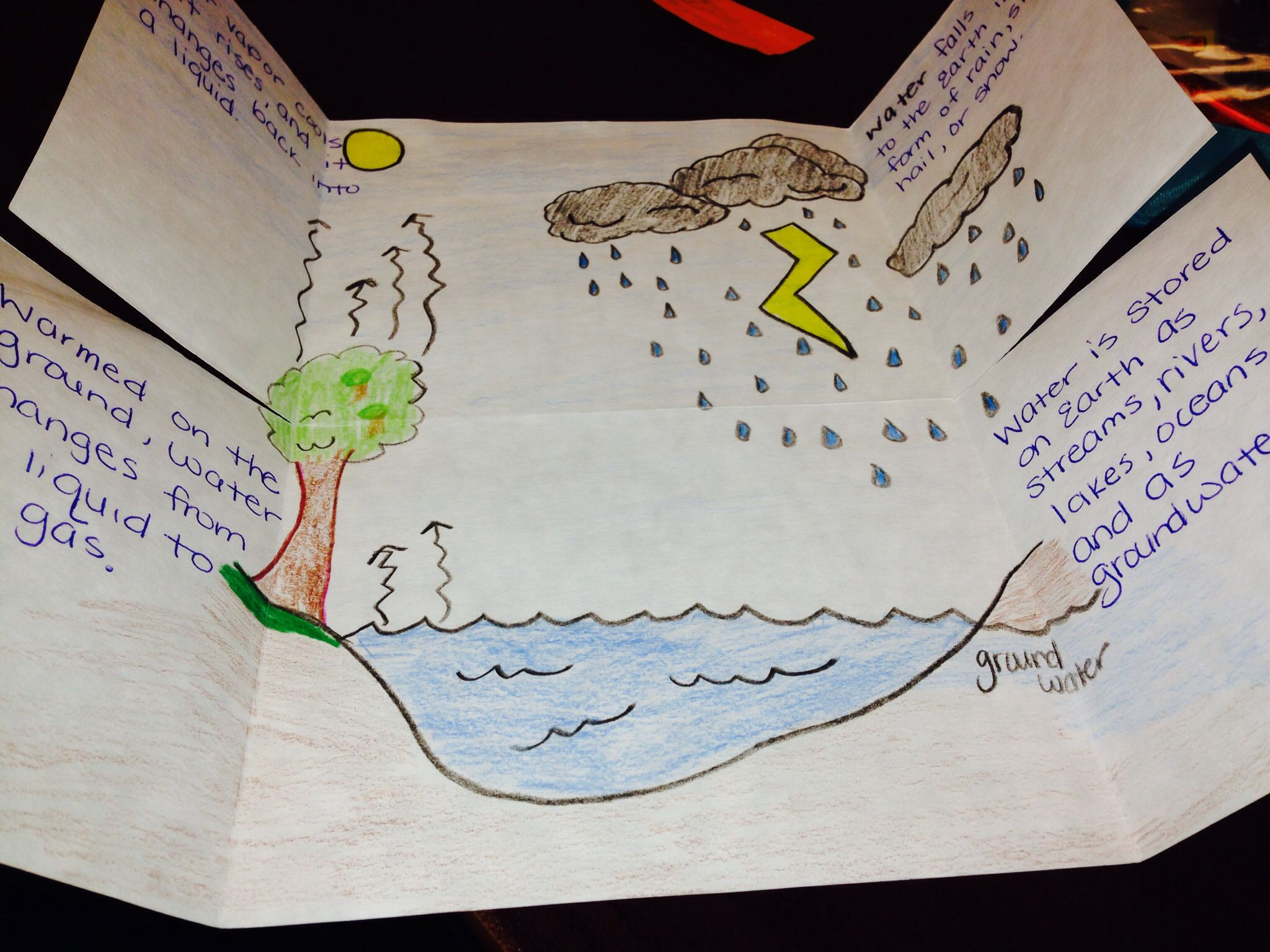 Doodles Science Worksheets Water Cycle Foldable Doodles