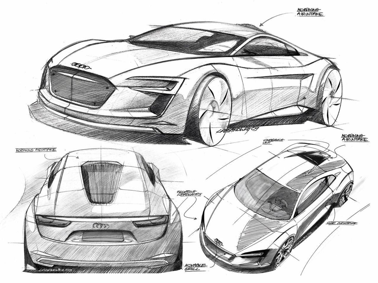Audi E Tron Concept Design Sketches