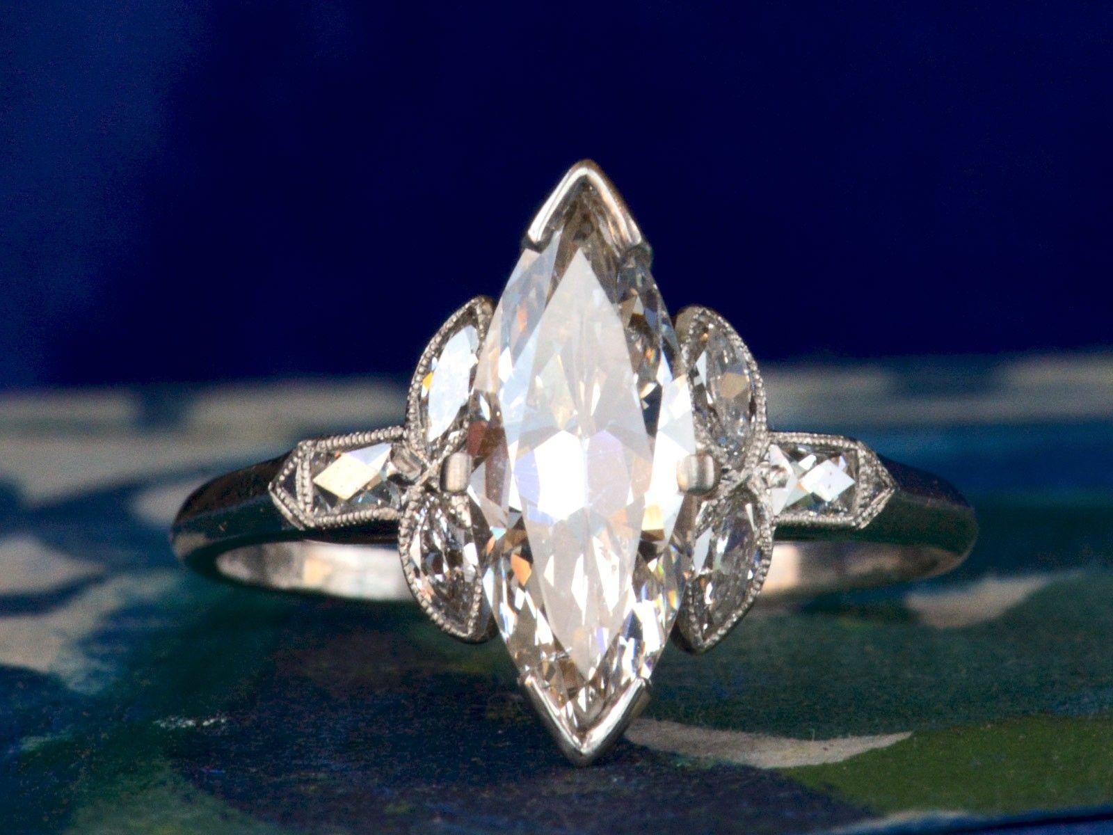 Best 25 Marquise Cut Diamond Ring Ideas On Pinterest