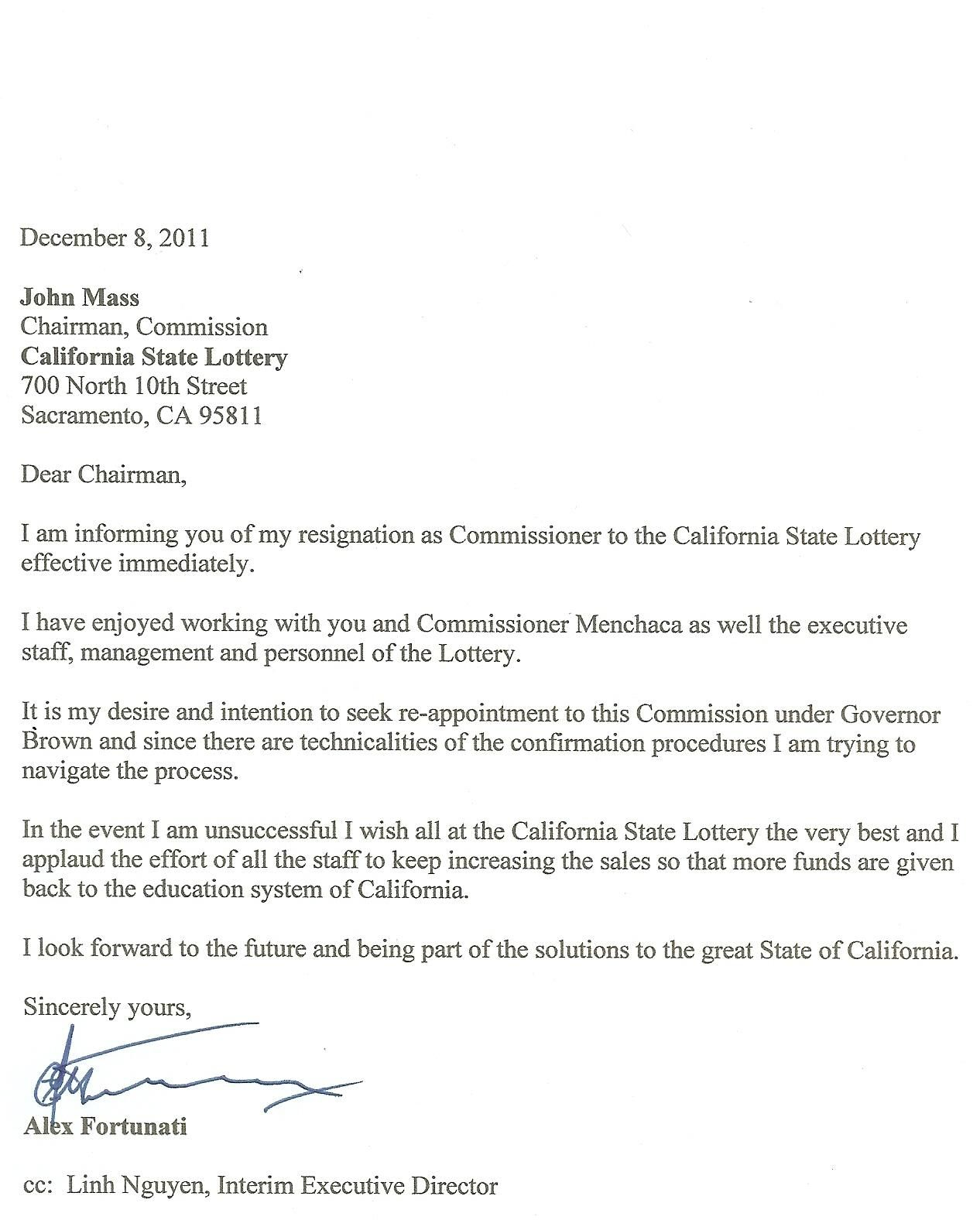 Resignation LetterWriting A Letter Of Resignation Email