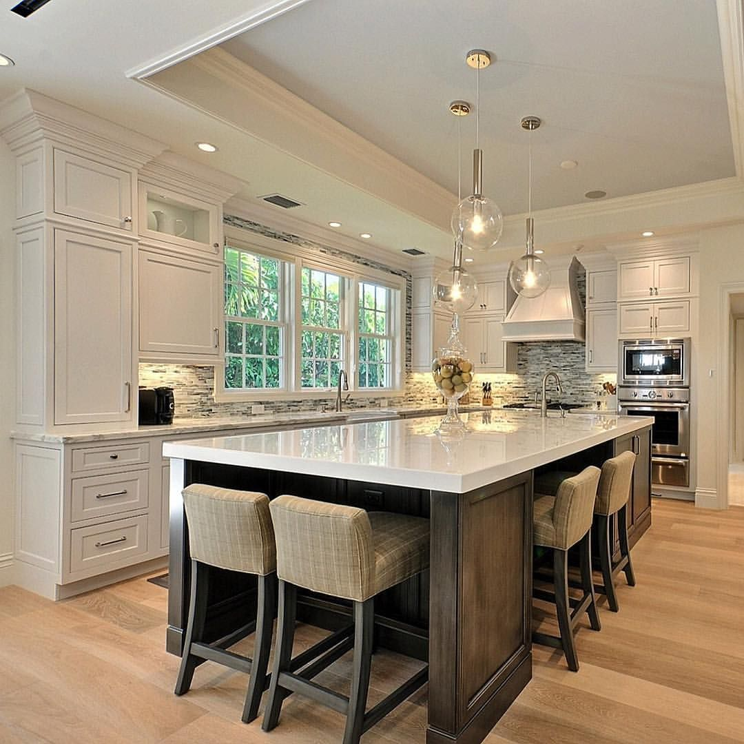 Beautiful kitchen with large island House & Home