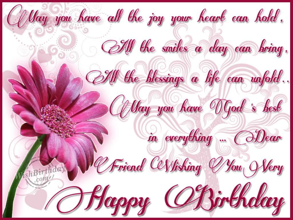 Happy Birthday Wishes Dear Friend Wishing You A Very