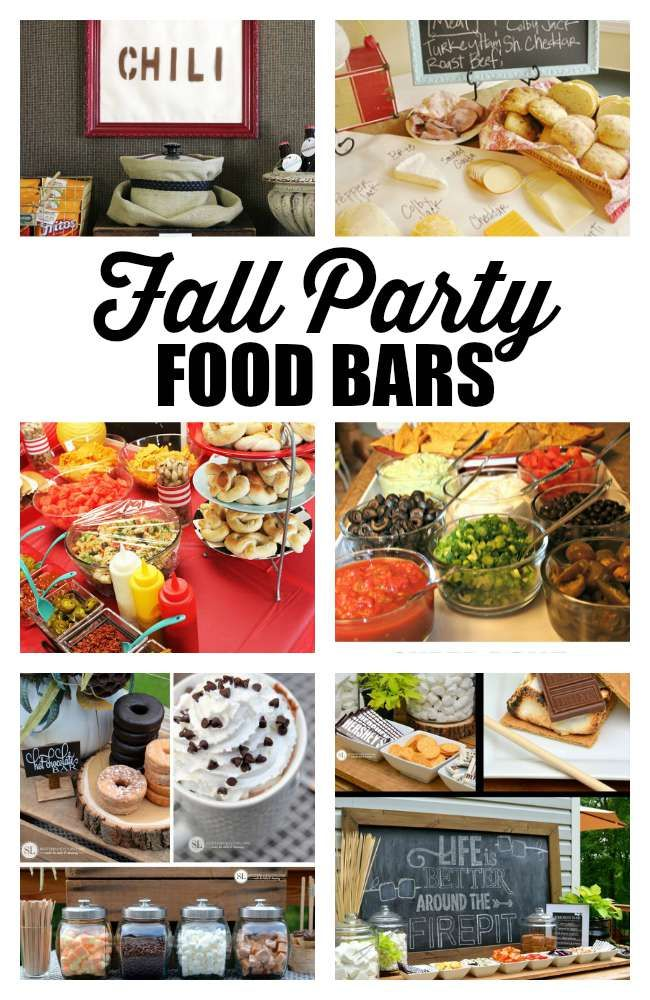 Fall Dinner Party Ideas Cleaning checklist, Food bars