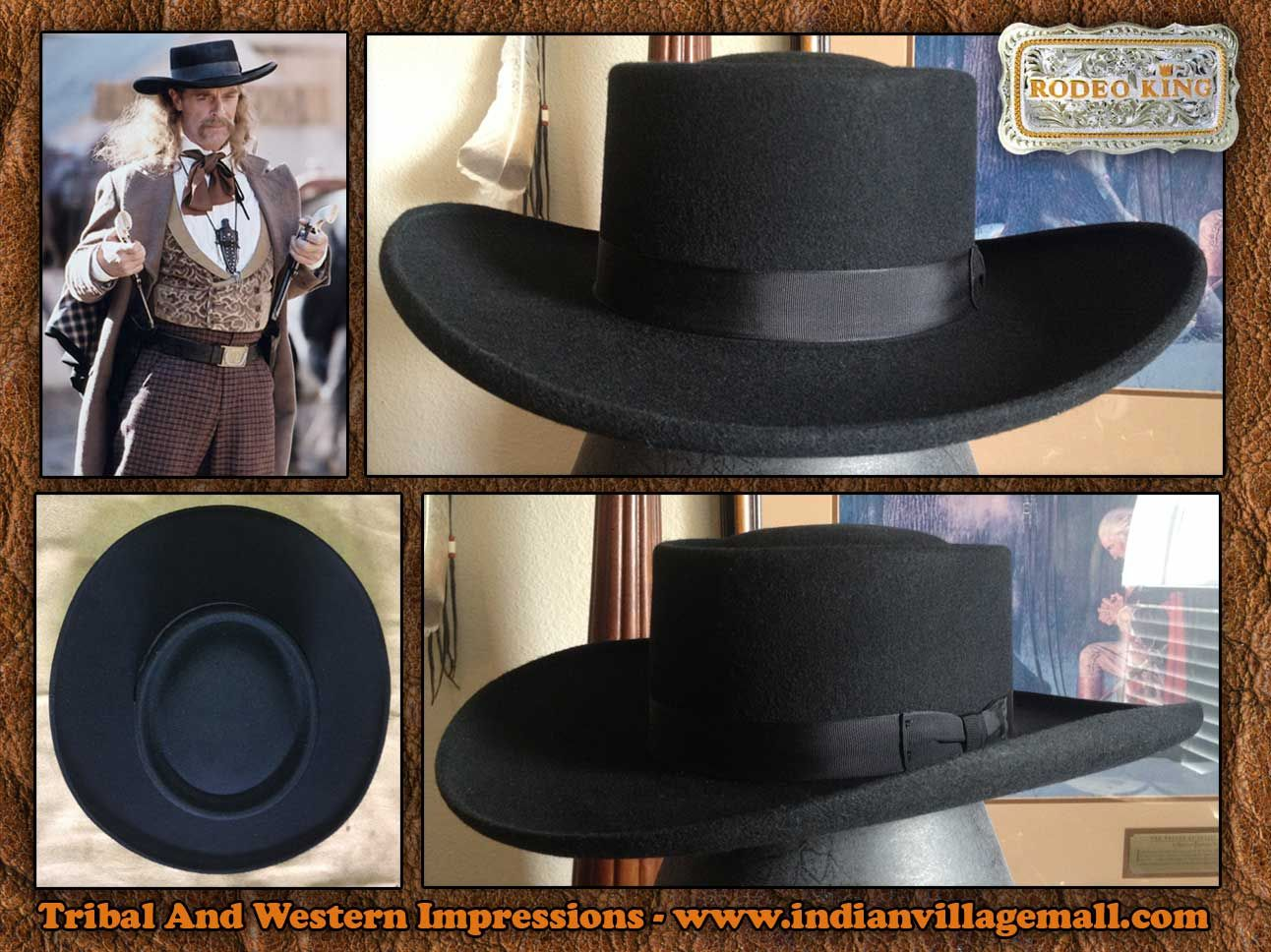 3x Old West Blend Wild Bill Hickok Style Hat From Tribal