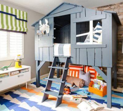 jungenzimmer gestalten tolle deko bett in form von haus gestaltet
