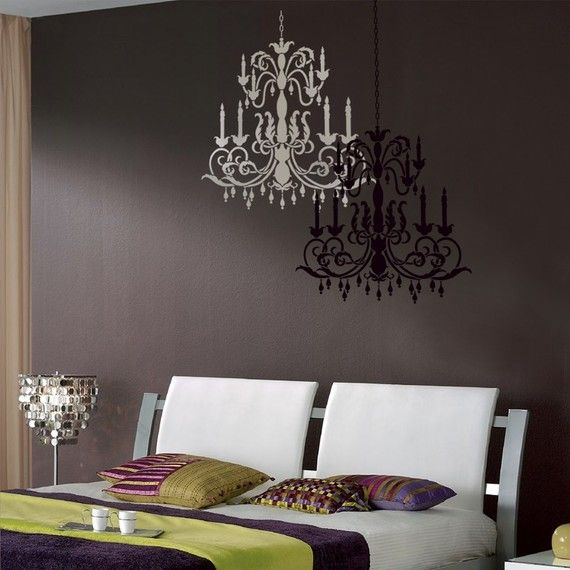Reusable Stencil Chandelier Size Med Wall Stencils Better Than Decals