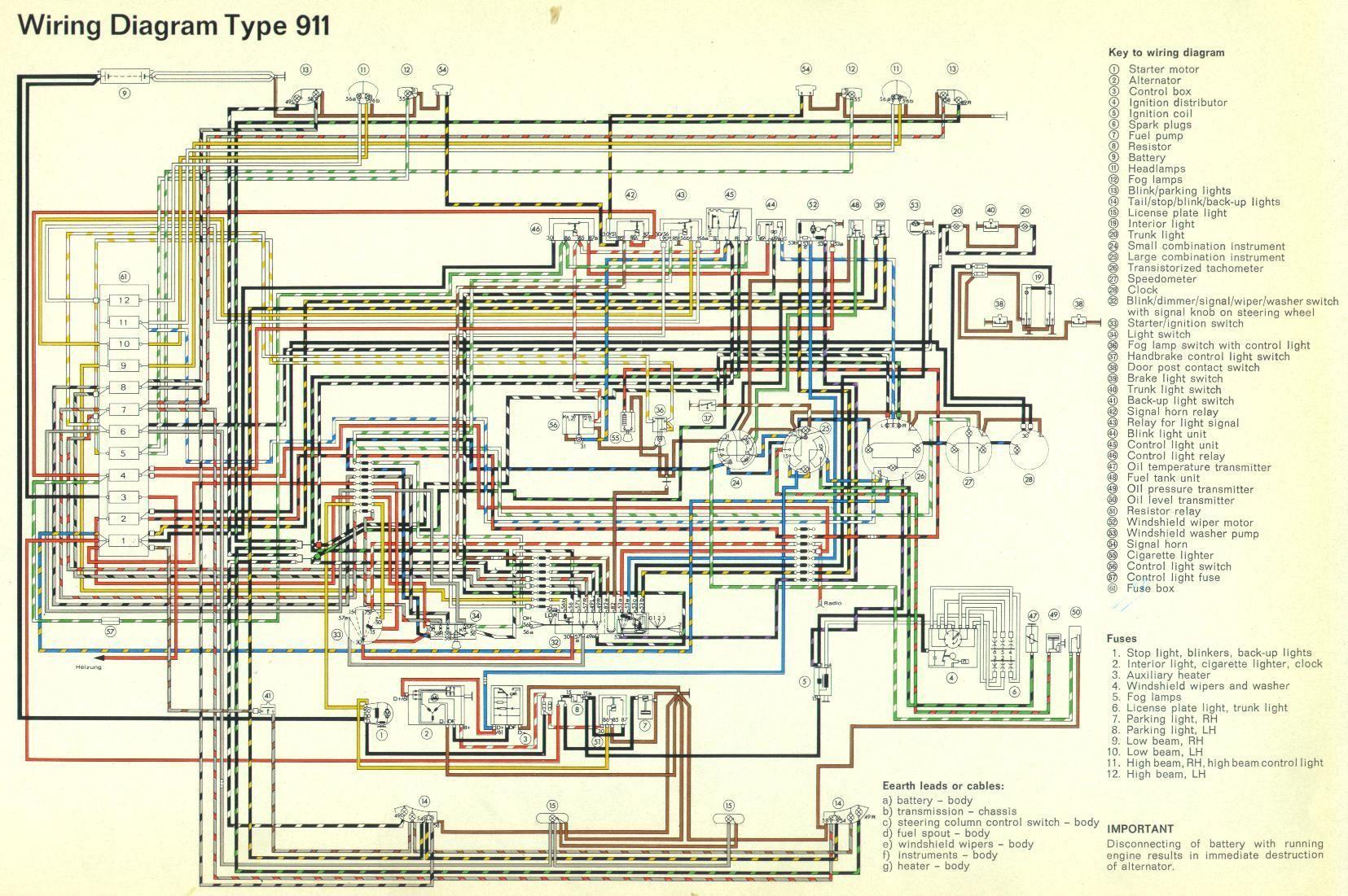wiring diagrams for 86 porsche 944  porsche  auto wiring