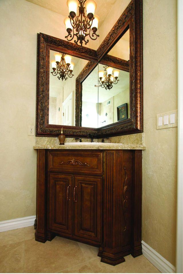 Corner Vanity a corner bathroom