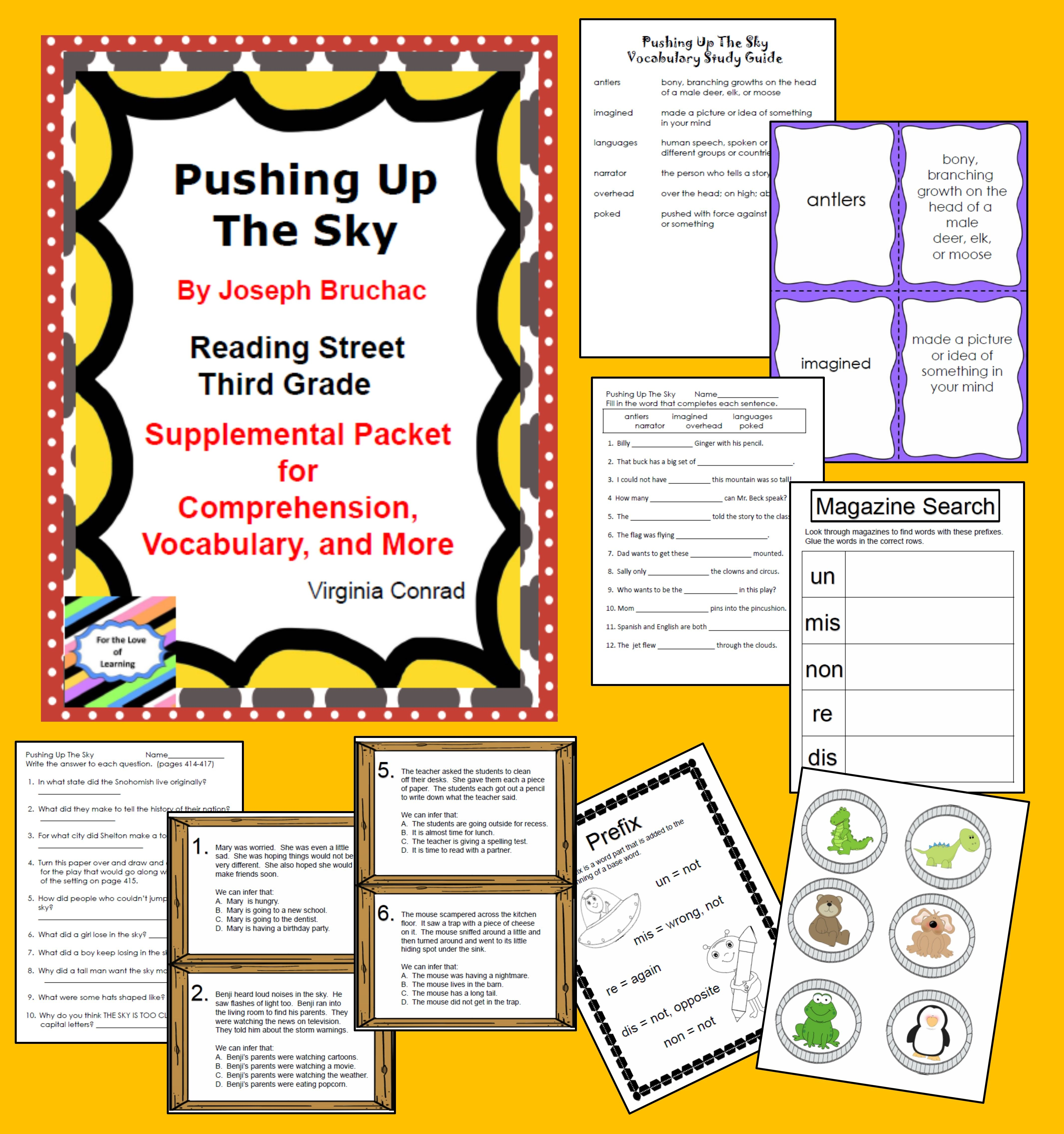 Pushing Up The Sky Supplemental Packet Third Grade Reading Street