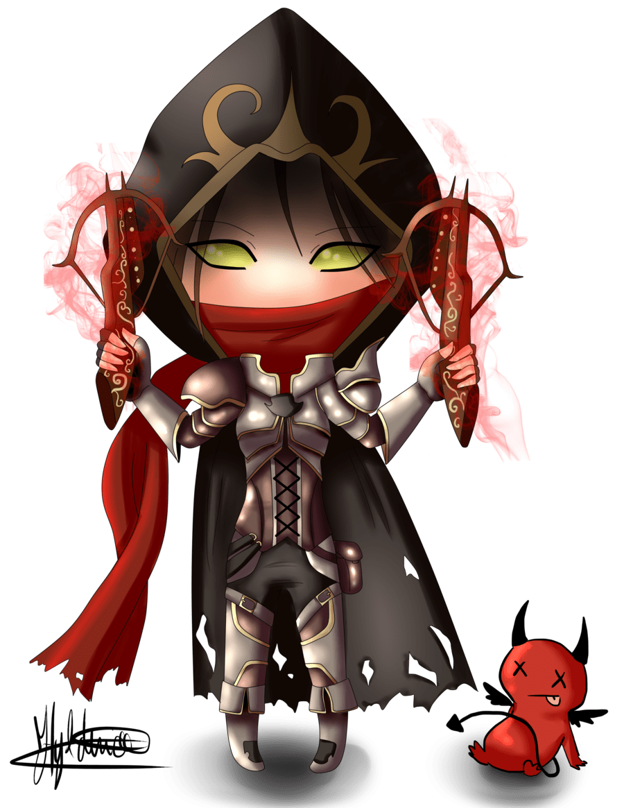 Chibi Demon Hunter (Diablo III) by