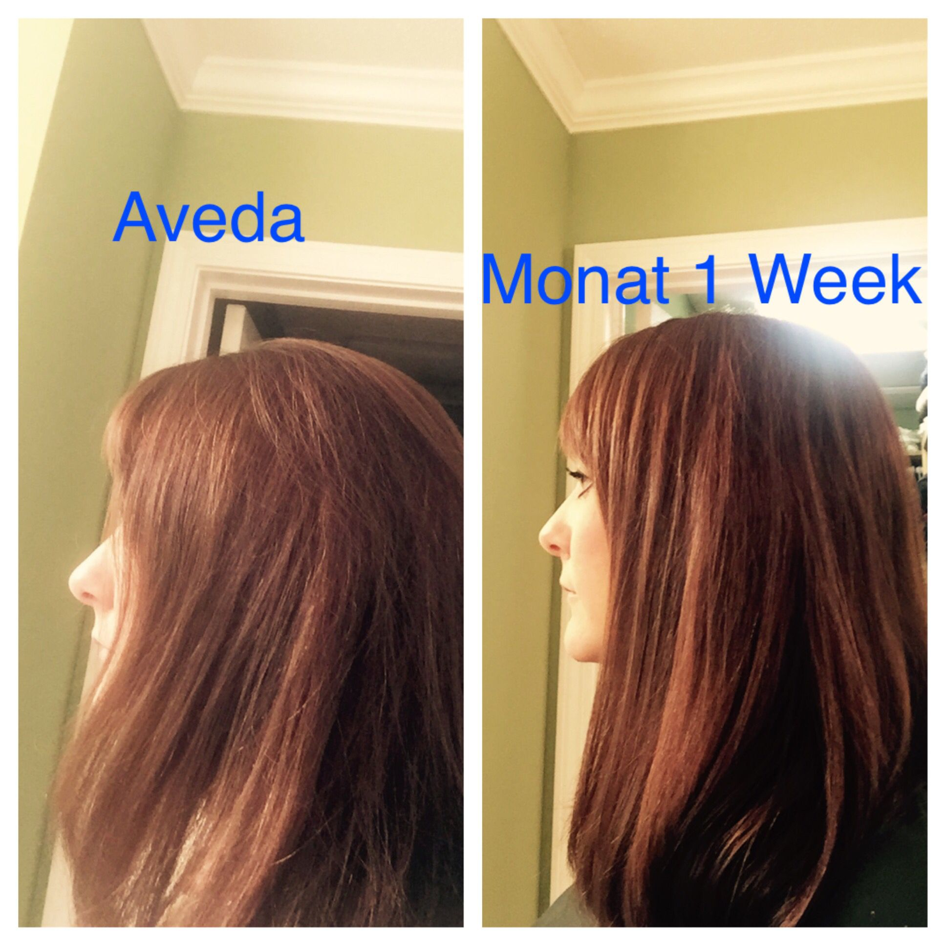 Personal results for using Monat. Natural based Haircare