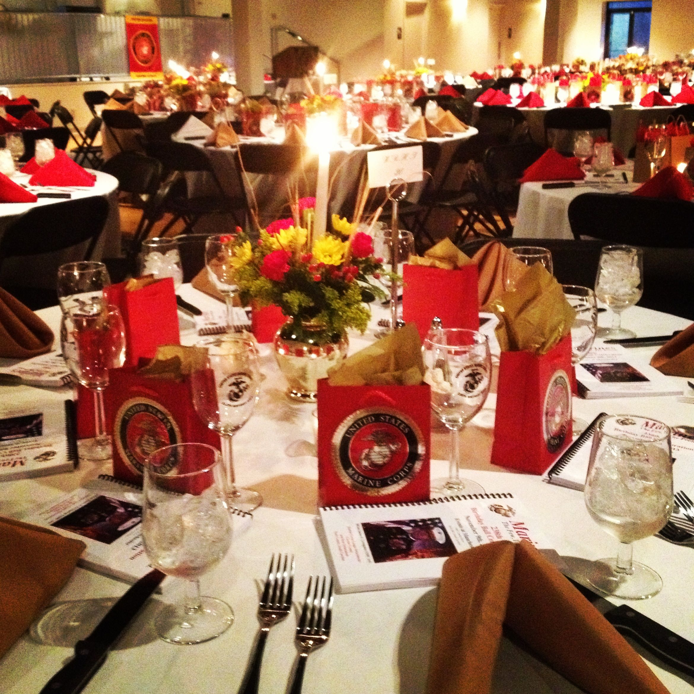 Tablescape from the Marine Corps Ball Events at
