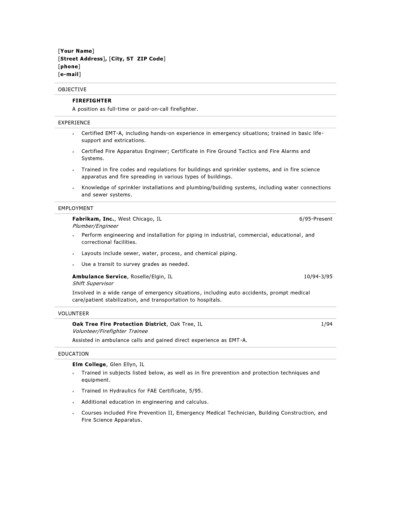 Emt B Resume Objective Certified Nursing Assistant Example