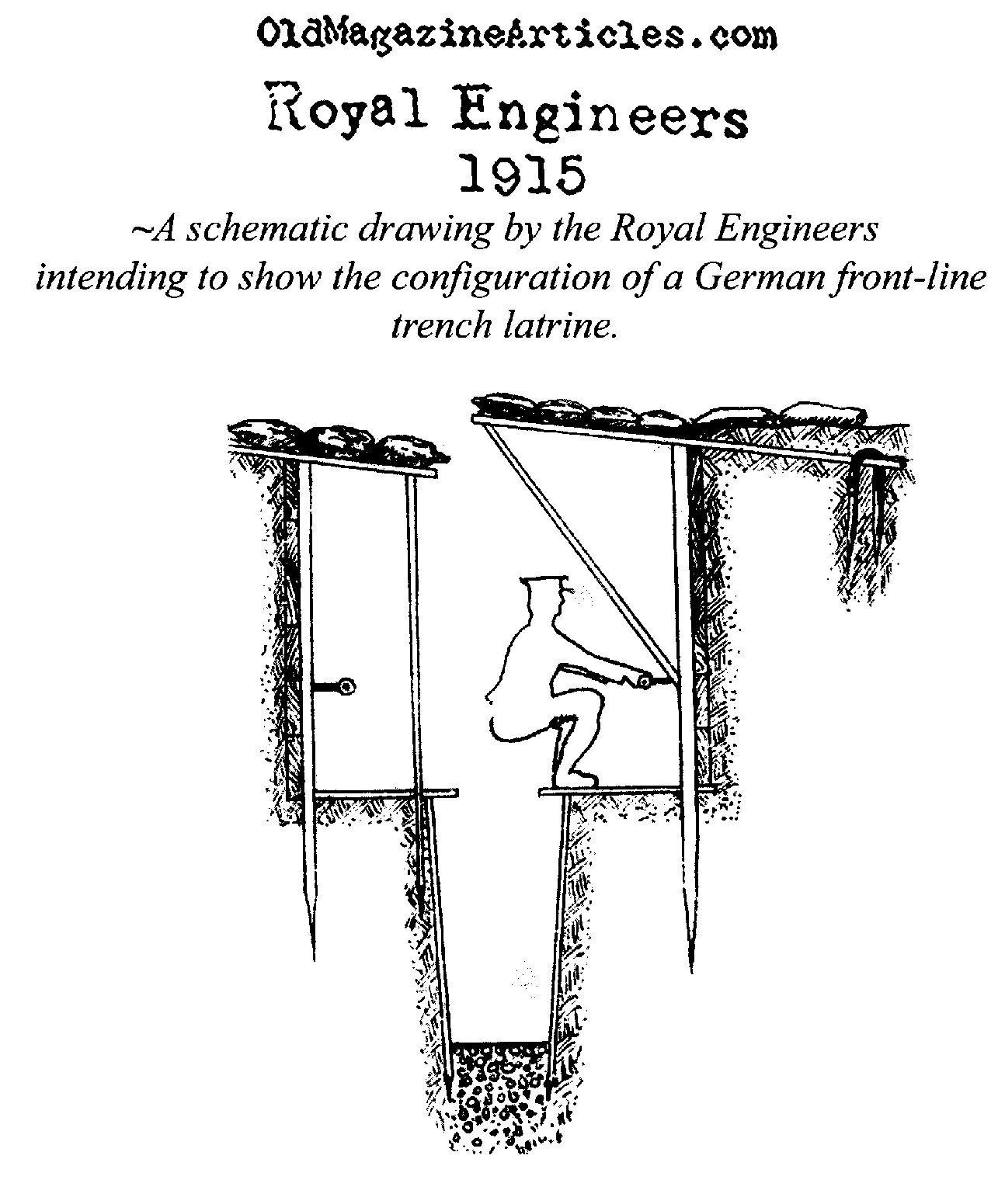 A British Drawing Of A German Trench Latrine Royal