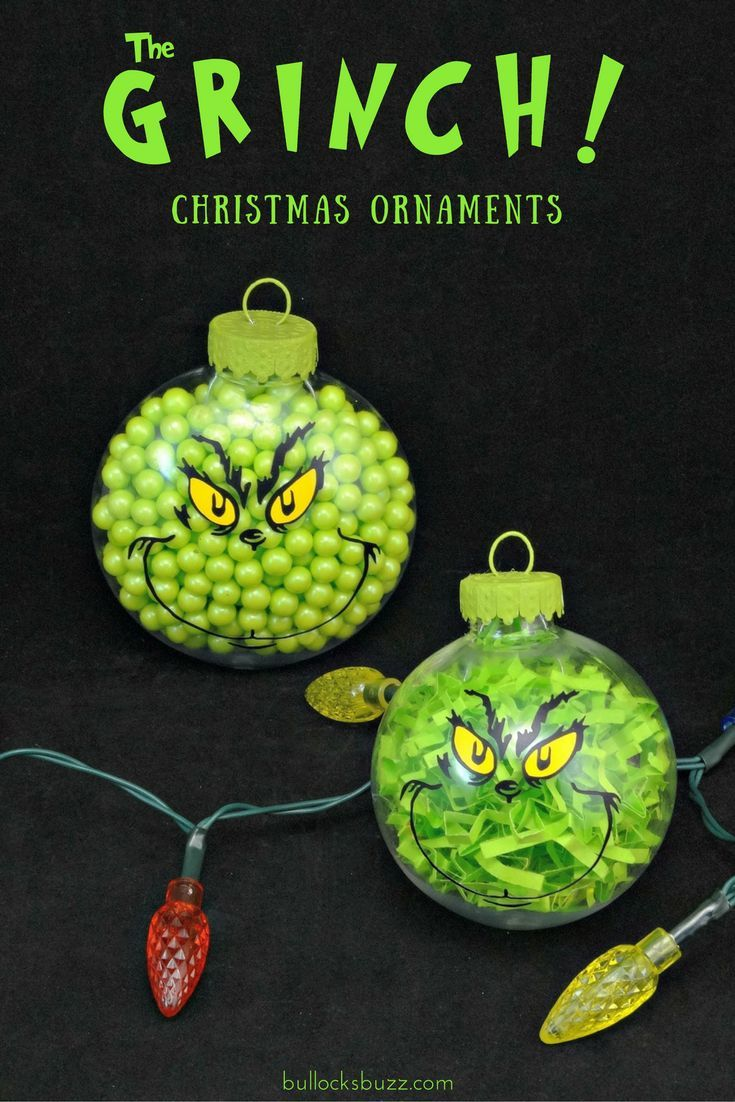 Two DIY Grinch Christmas Ornaments An Easy Tutorial