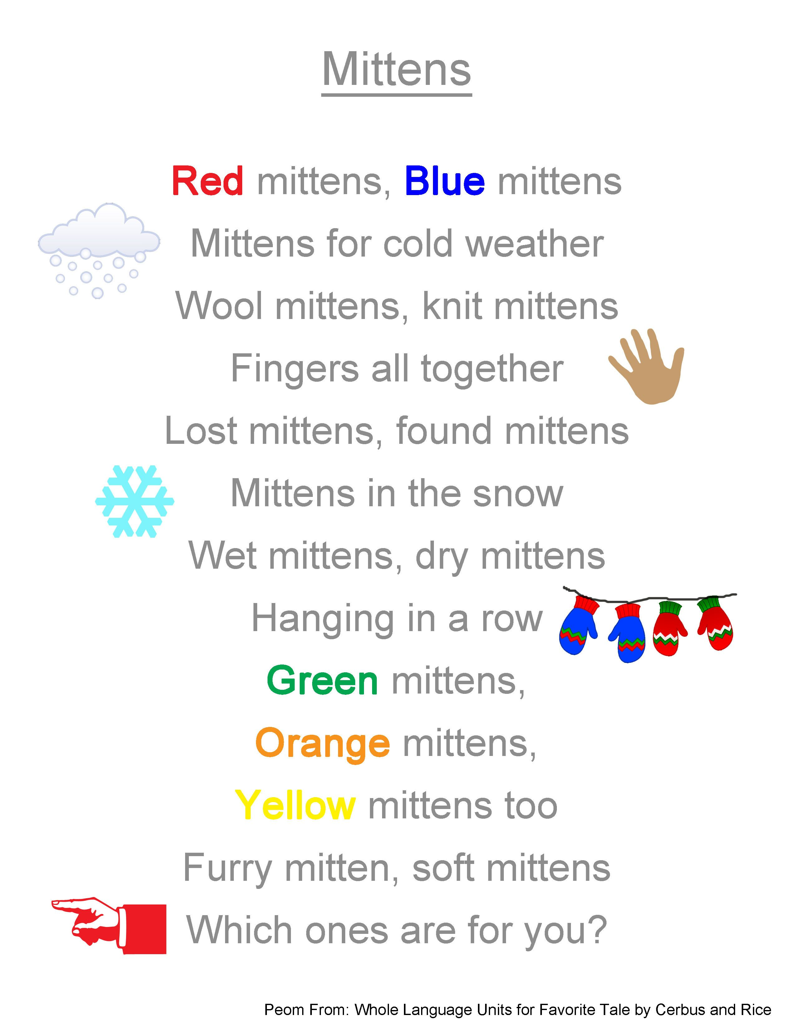 Poems About Mittens
