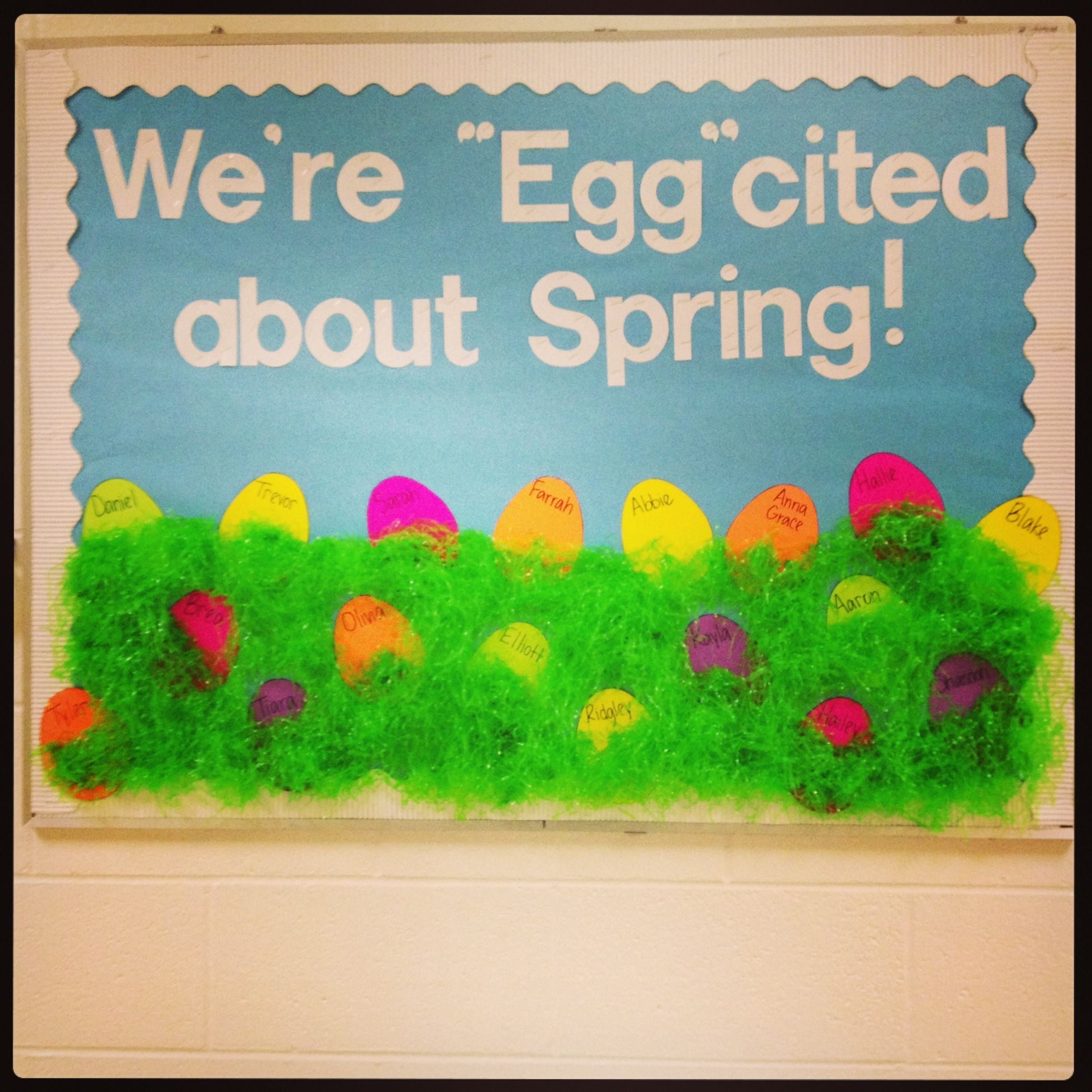 Easter Spring Bulletin Board And The Showcase Board