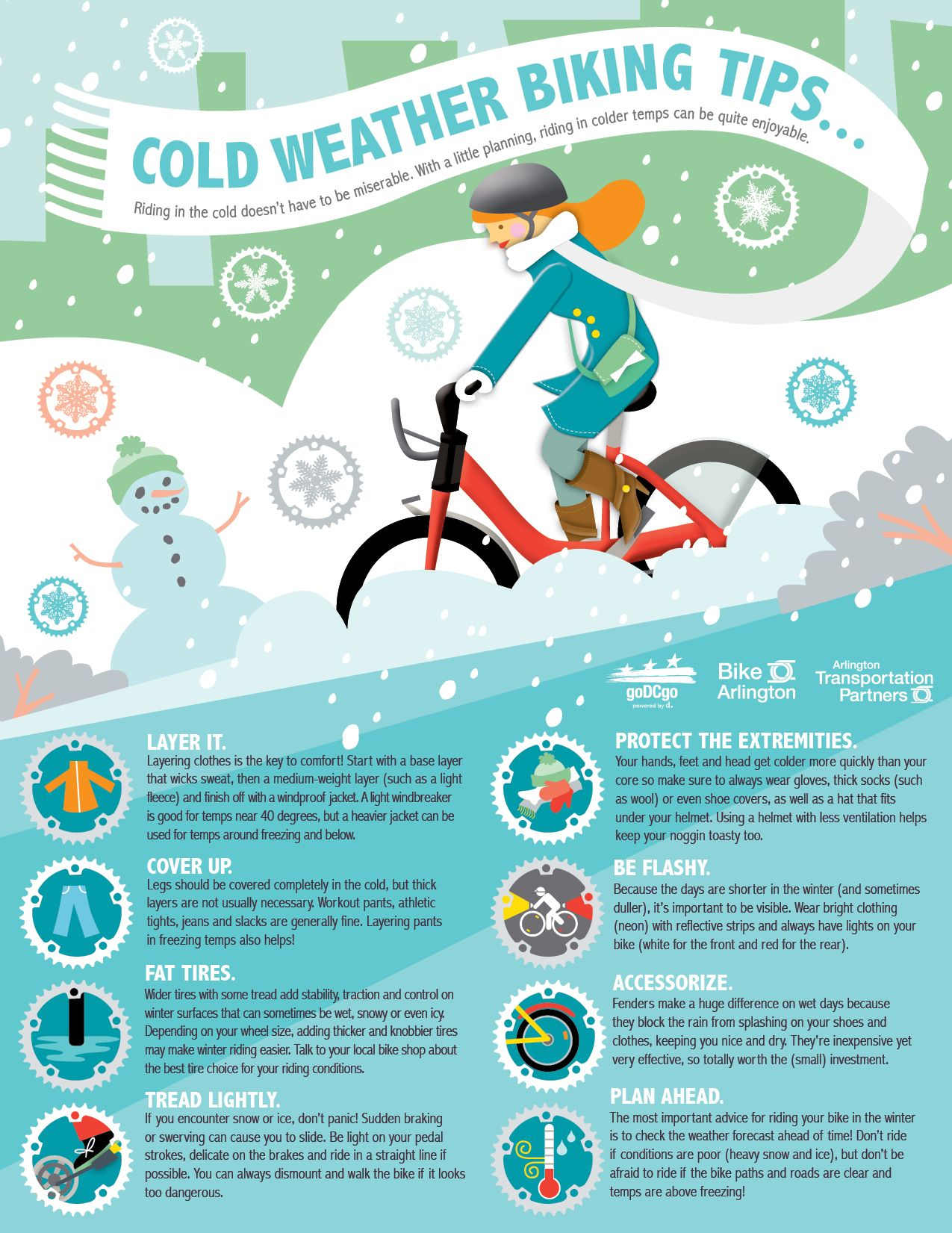 Safety tips for cyclists Cold weather, Weather and Winter