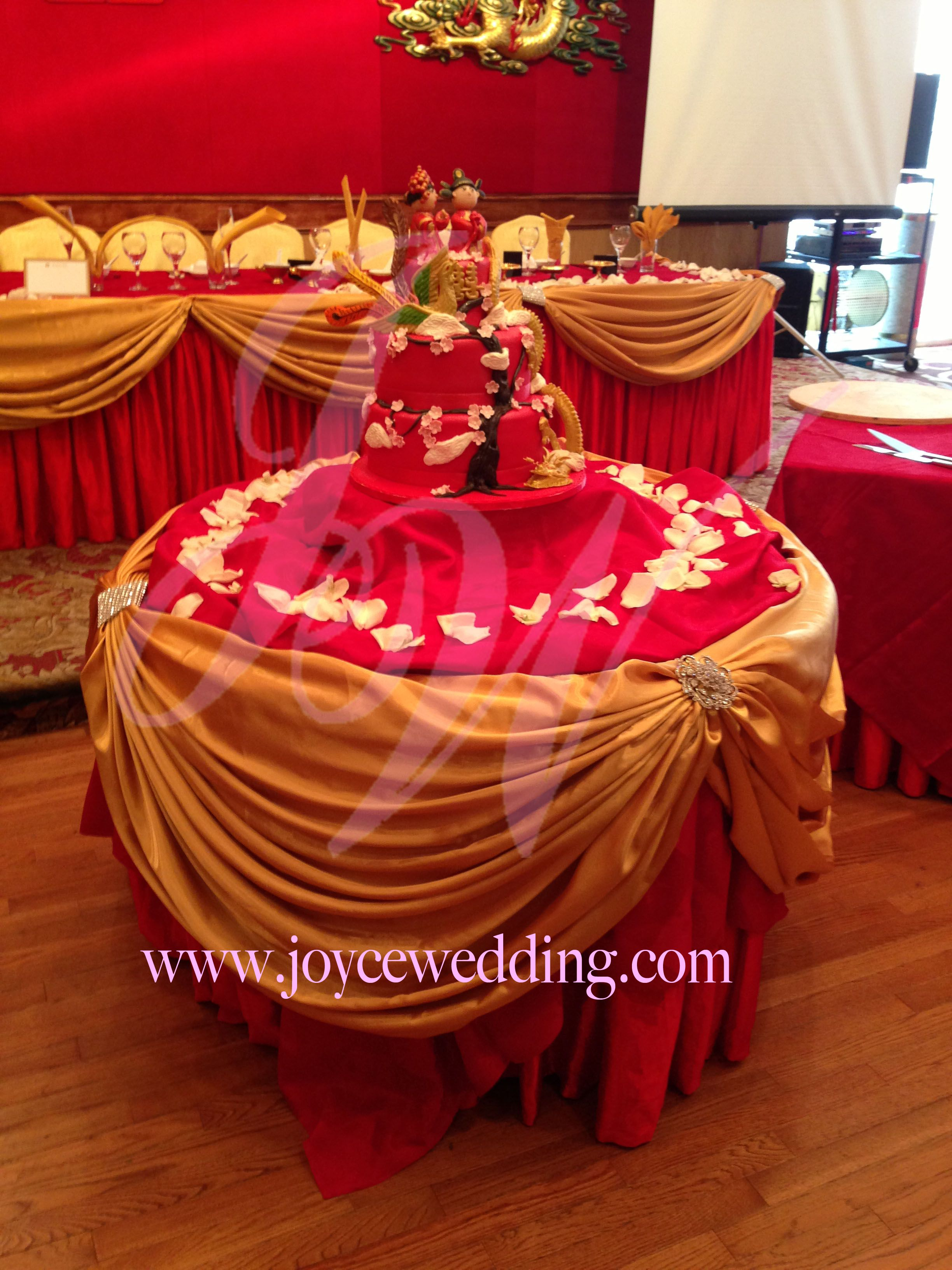 Red and Gold Wedding Decoration Gold weddings, Cake
