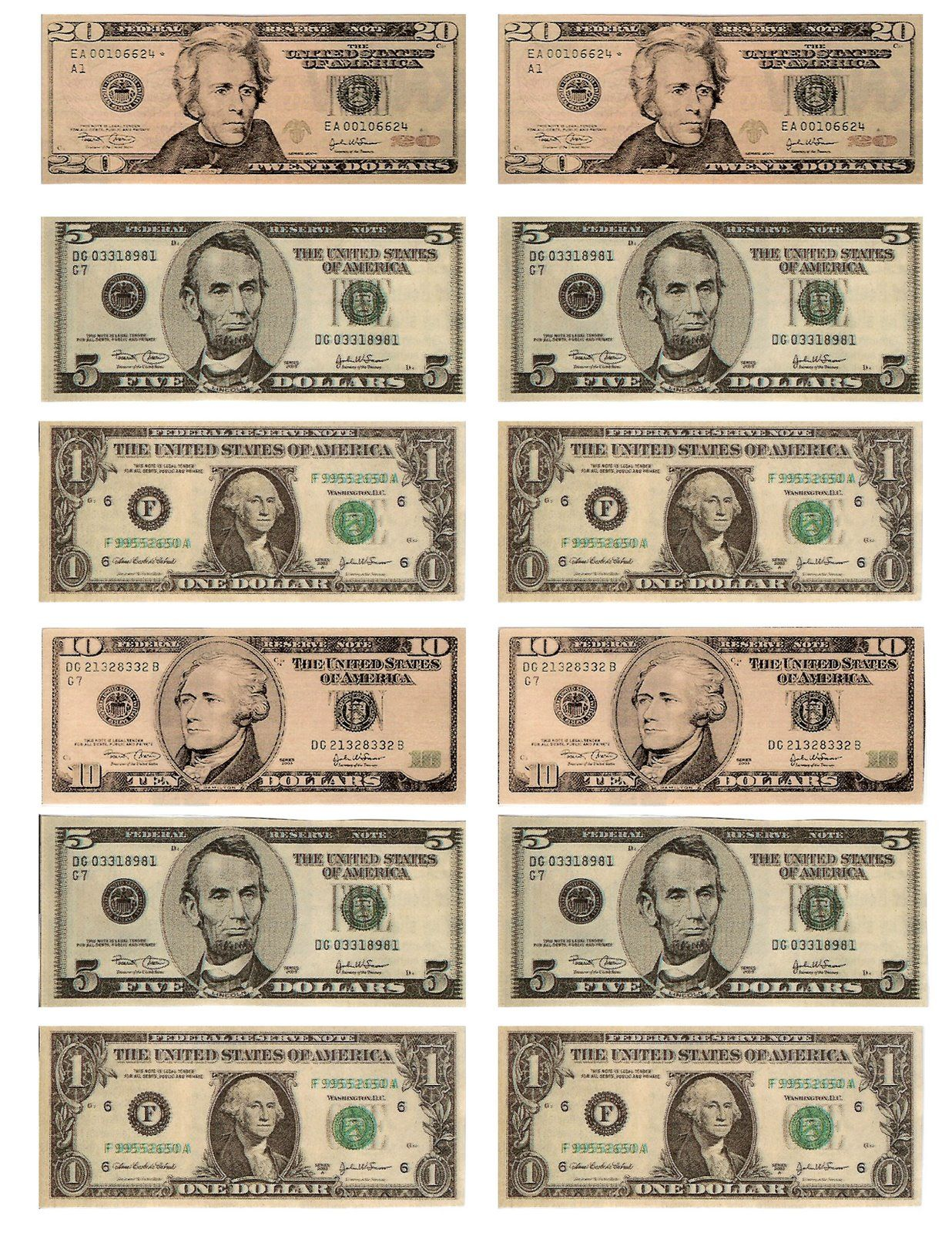 Legal Free Printable Money For Teaching The Kids About American Money Or Using As Reward