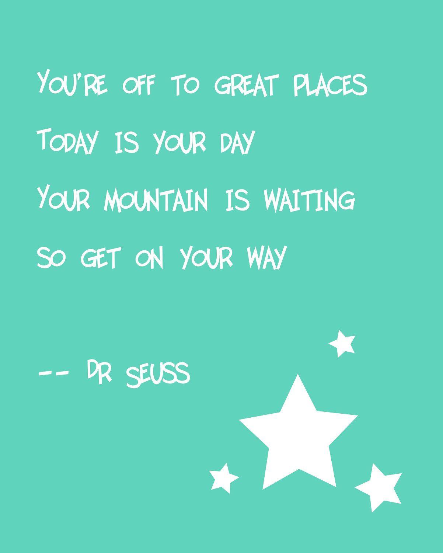 Dr Seuss Quote Print 18 00 Via Etsy