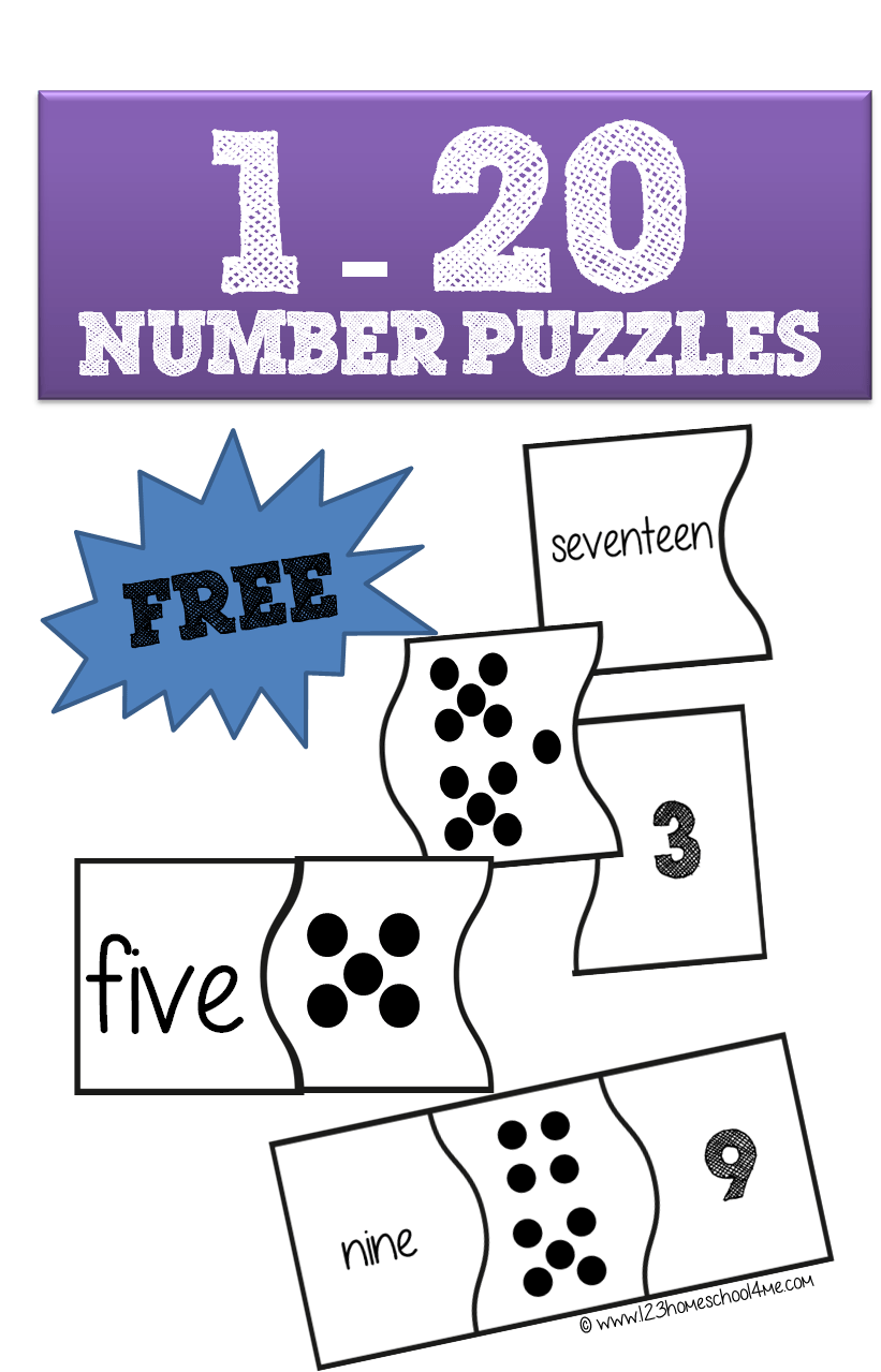 120 Number Puzzles are a fun way for preschool