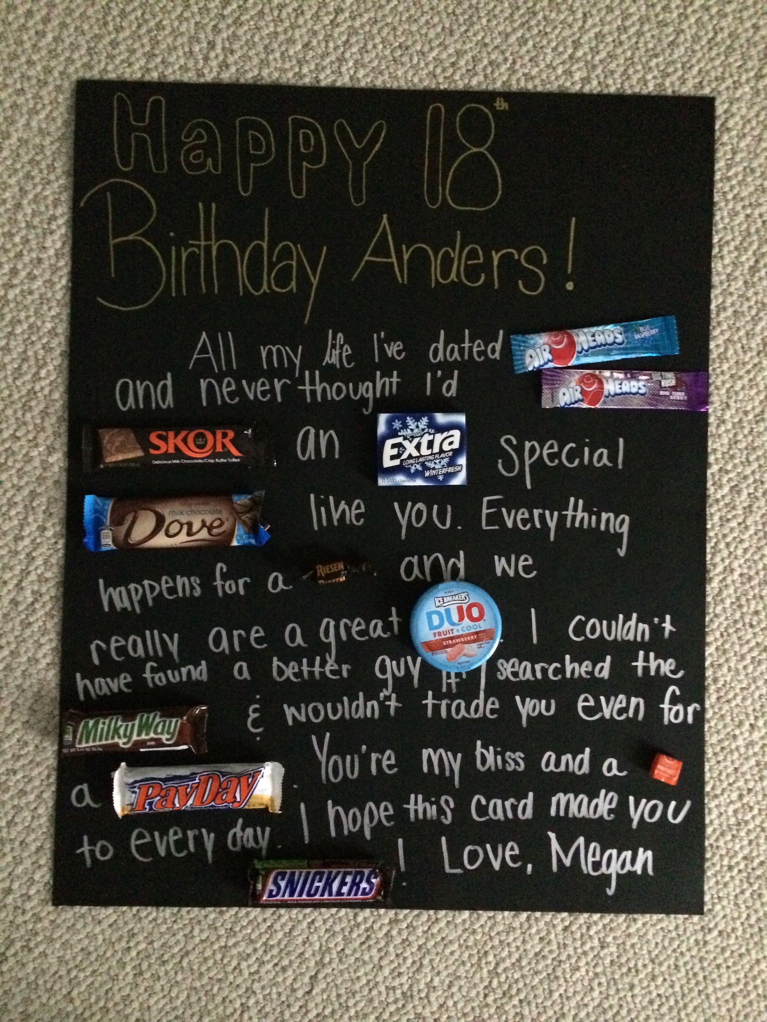 Boyfriends 18th Birthday Card Quotes Pinterest Cards