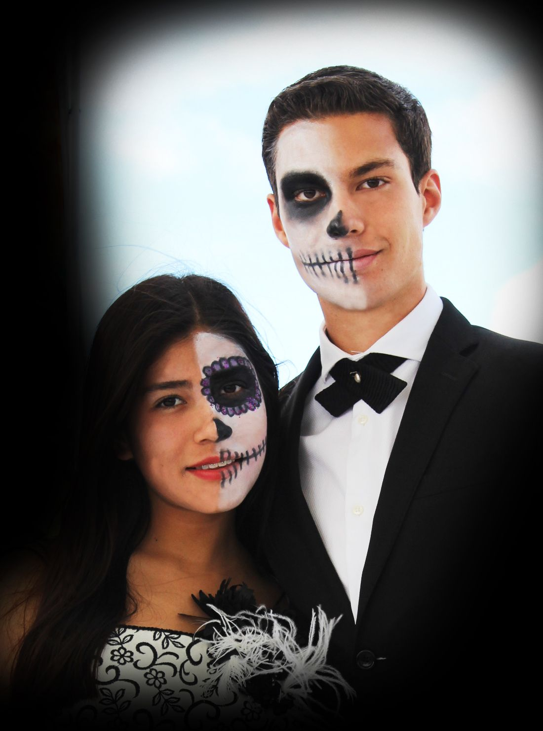 catrina disfraz maquillaje escolar pareja dia de muertos