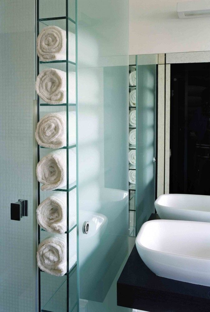 built in towel storage. | sewing kit (master bath) | pinterest