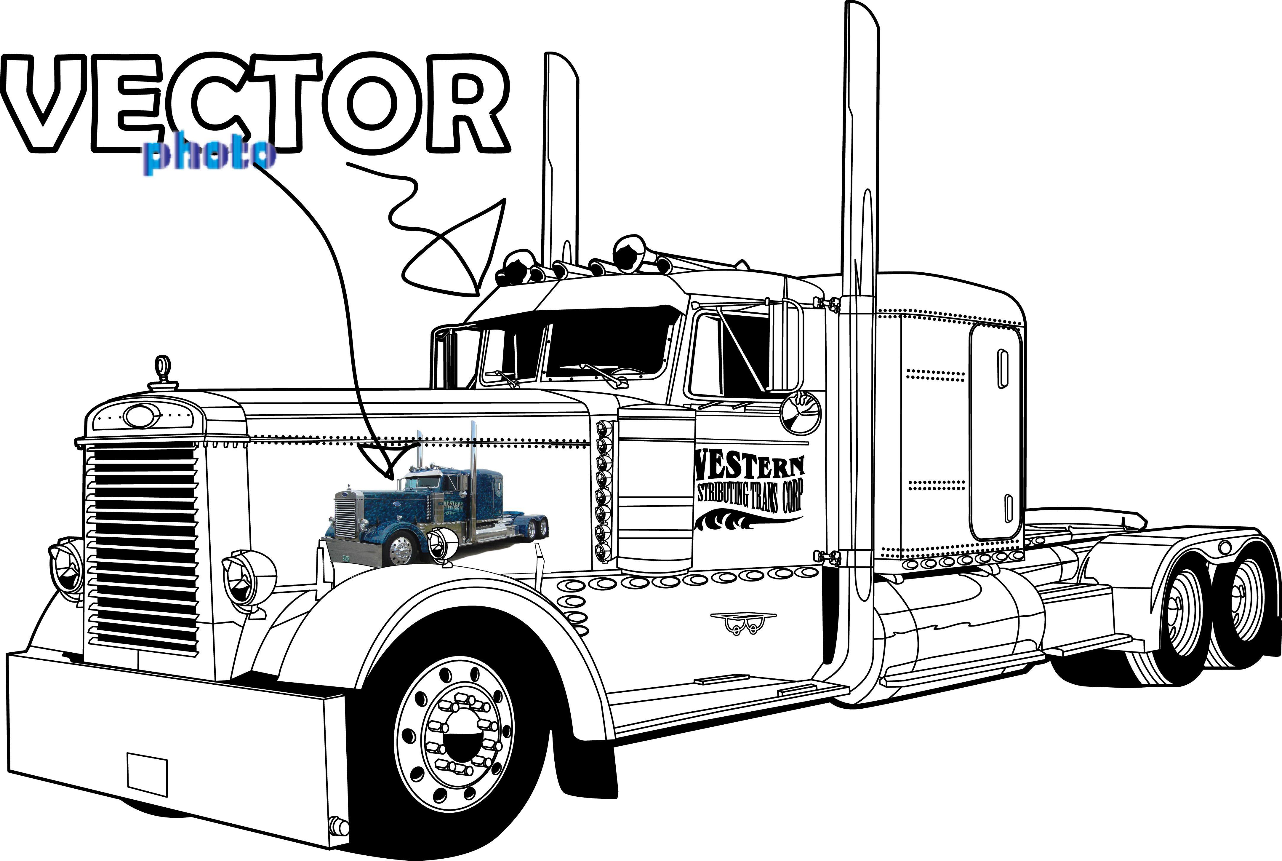Peterbilt Semi Truck Cartoons