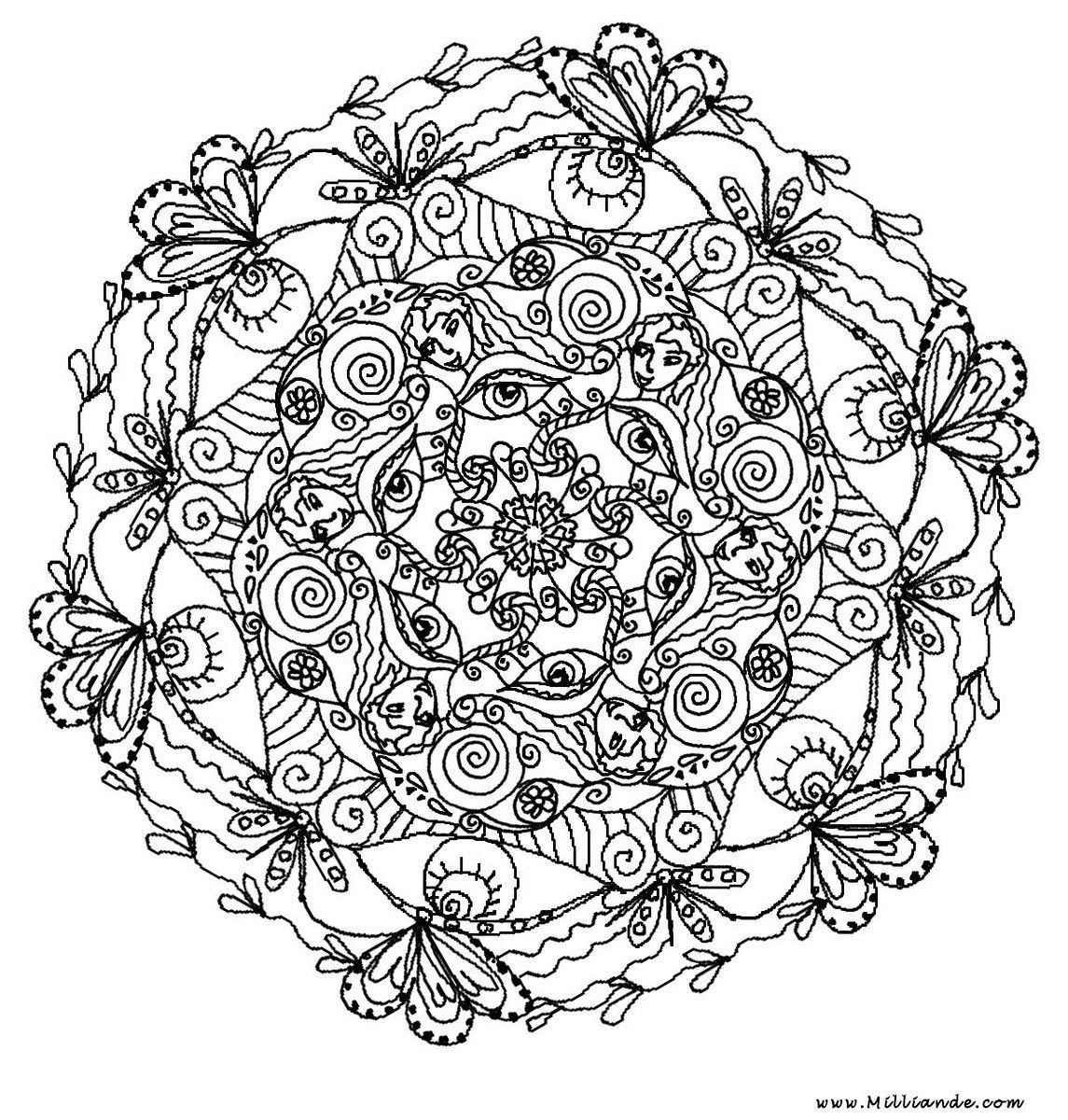 Hard mandala coloring pages for adults - Hard Mandala Coloring Pages For Adults 14