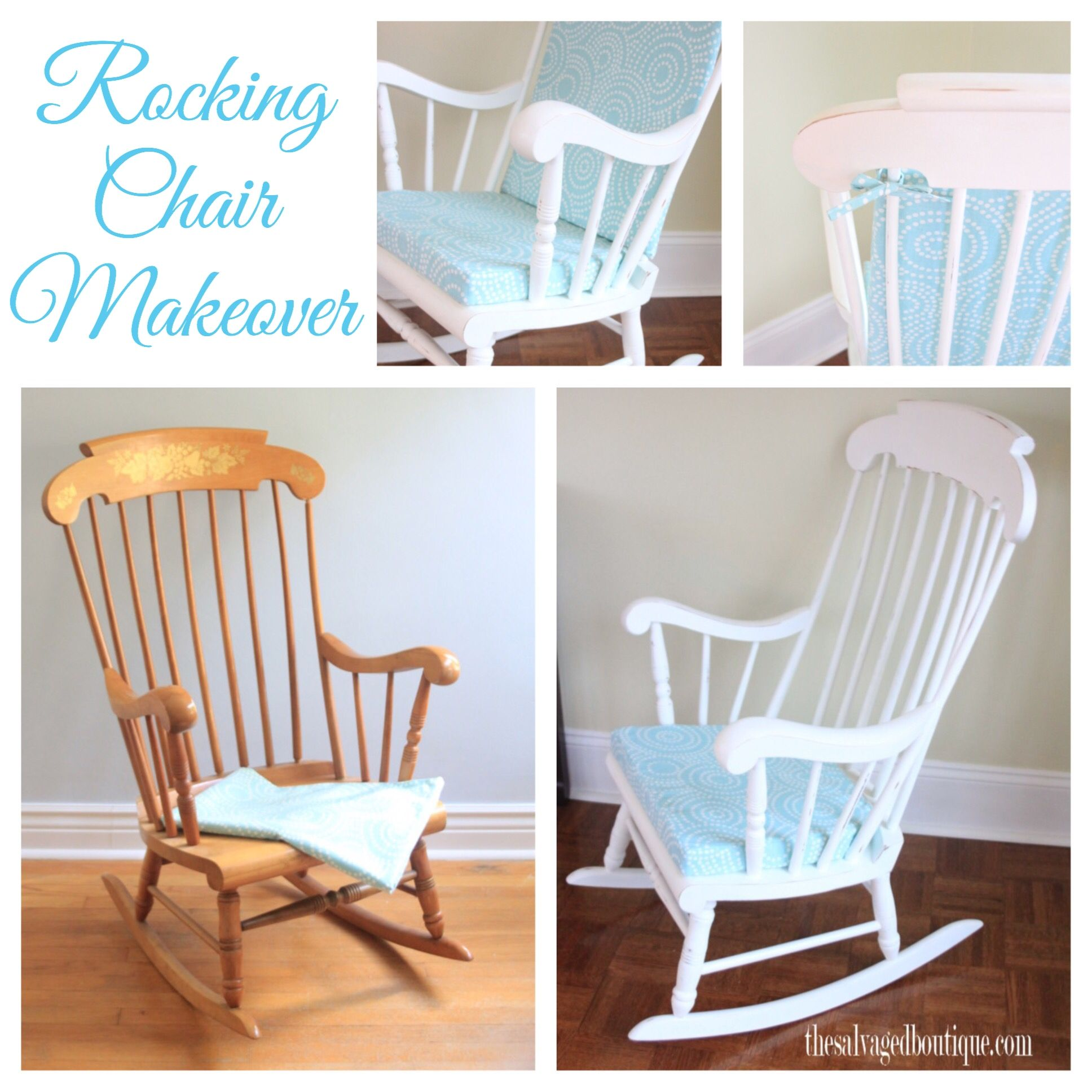 Vintage rocking chair makeover for a baby nursery Annie